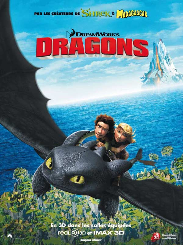 Affiche du film d'animation Dragons