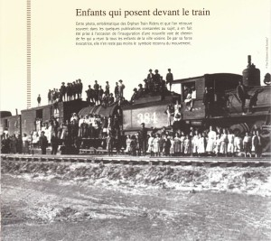 Photo d'archive d'un vrai train des orphelins