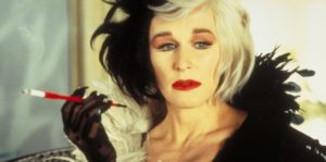 Cruella d'enfer incarnée par Glenn Close