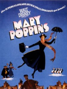 Mary Poppins - Affiche rétro